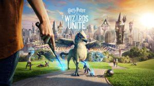 Une affiche du jeu Harry Potter : Wizards Unite