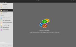 L'interface de LibreOffice 6.4 .