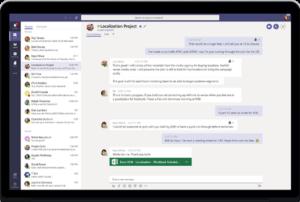 L'interface de Microsoft Teams.