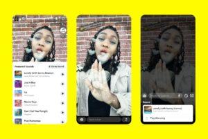 Snapchat lance Sounds pour contrer TikTok (Photo : Snapchat).